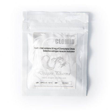 Clomid 50mg 100tabs Dragon Pharma